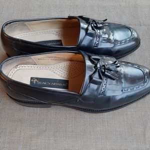 STACY ADAMS BLACK TASSEL LEATHER SHOES SIZE 10M